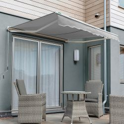 3.5m Half Cassette Manual Awning, Silver
