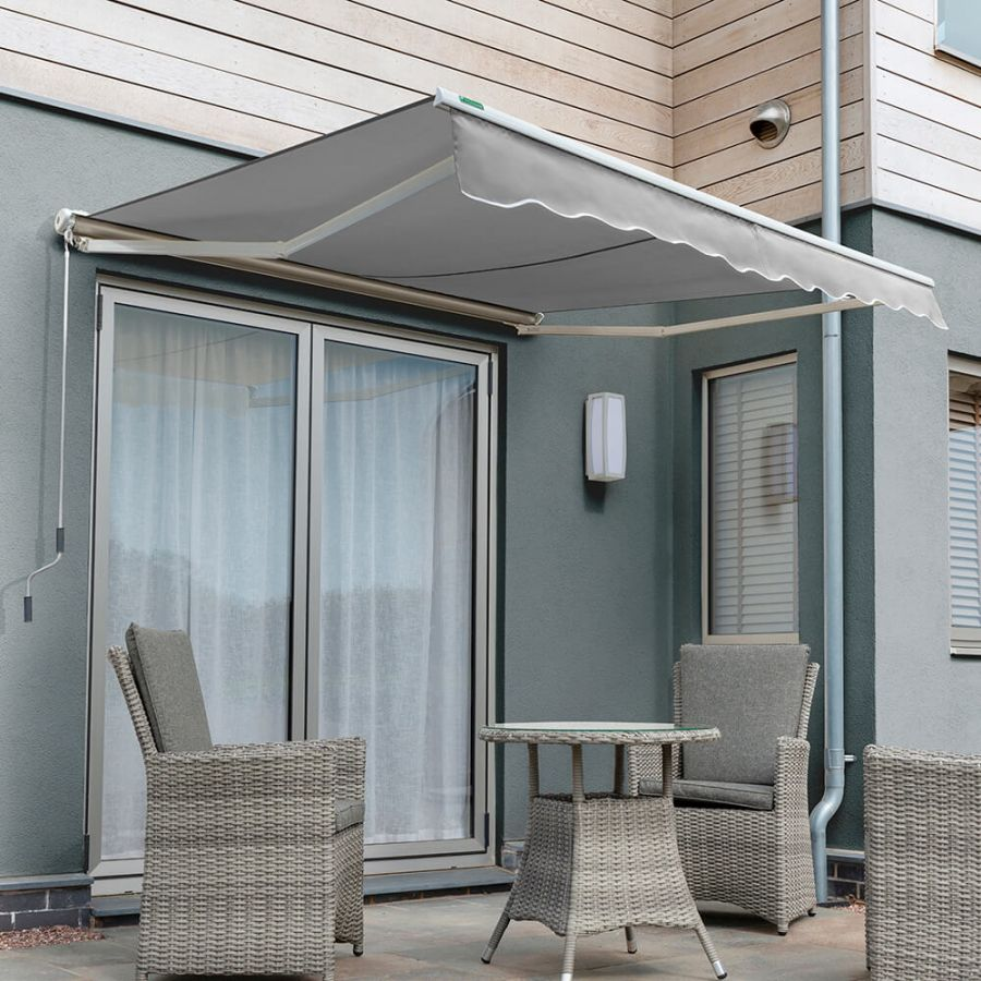 2.5m Half Cassette Electric Awning, Silver