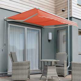 4.5m Half Cassette Electric Awning, Terracotta