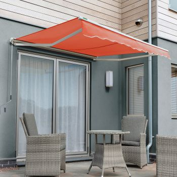 3.5m Half Cassette Manual Awning, Terracotta