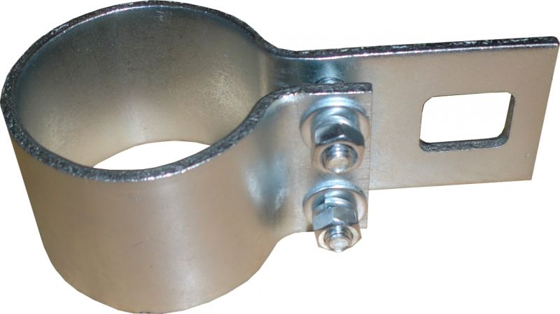 Galvanised bracket clamp - for 48mm diameter shade sail poles