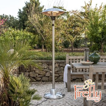 2.1kW IP44 Free Standing Adjustable Height Halogen Bulb Electric Infrared Patio Heater by Firefly™