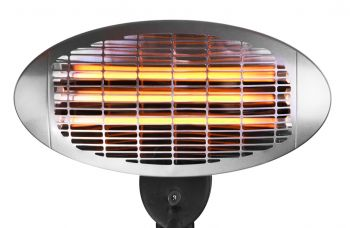 2kW Freestanding Electric Quartz Bulb Patio Heater - 3 Power Settings - Firefly™