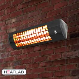 1.8kW IPX4 Wall Mounted Infrared Patio Heater with 3 Power Settings by Heatlab®