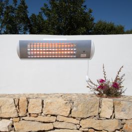 1.8kW IPX4 Wall Mounted Quartz Bulb Electric Tube Heater with 3 Power Settings by Heatlab®