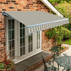 5.0m Standard Manual Awning, Multi Stripe