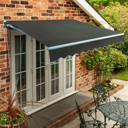 4.0m Standard Manual Awning, Charcoal