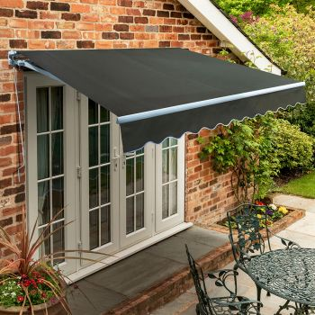 3.0m Standard Manual Awning, Charcoal