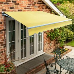 4.0m Standard Manual Awning, Lemon Yellow