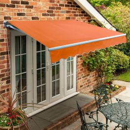 3.0m Standard Manual Awning, Terracotta