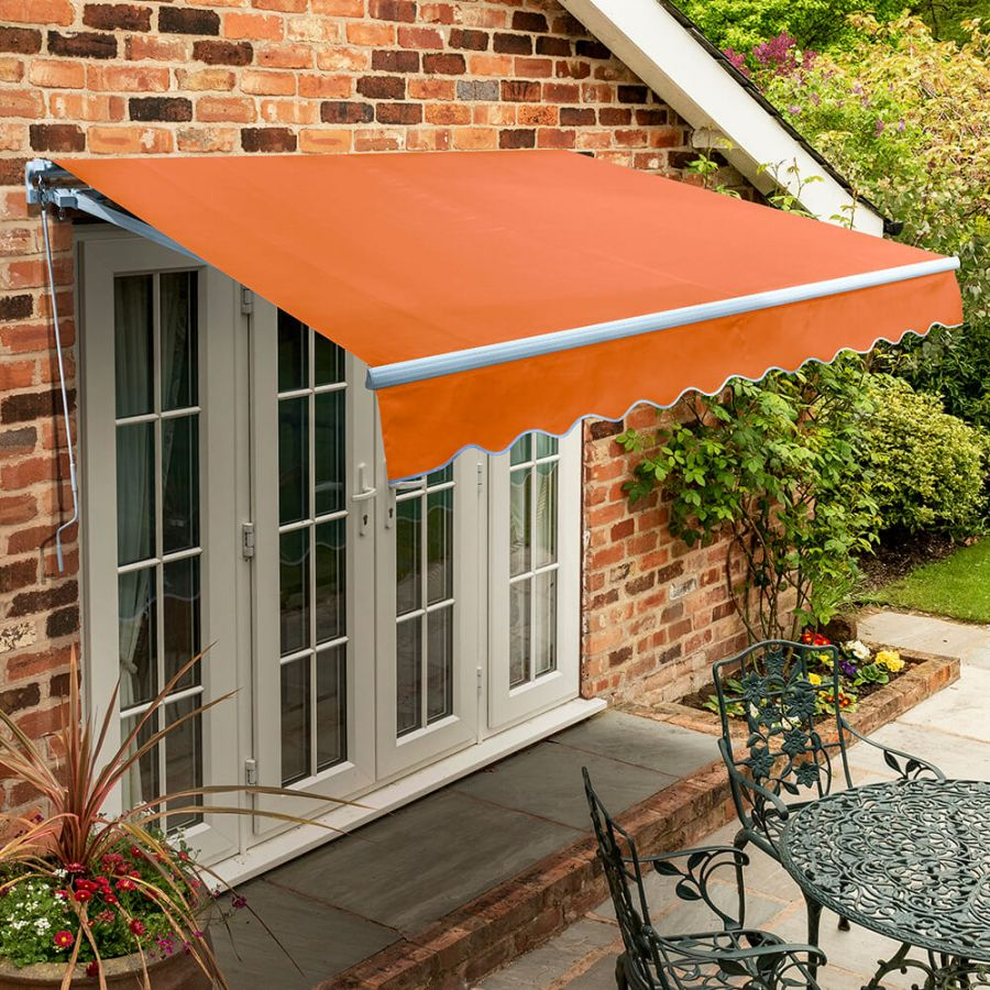 4.5m Standard Manual Awning, Terracotta