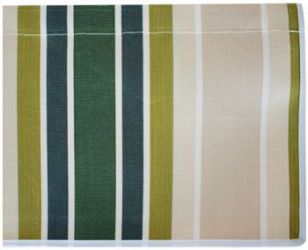 4.0m Green Stripe Valance - Straight