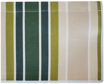 4.5m Green Stripe Valance - Straight