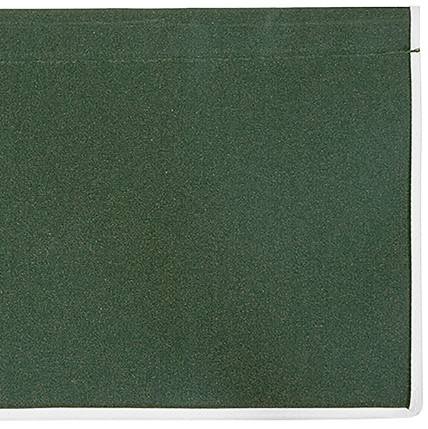 5.0m Plain Green Valance - Straight