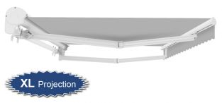 4m Half Cassette Electric Awning, Silver (4.0m Projection)