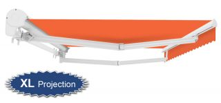 4m Half Cassette Electric Awning, Terracotta (4.0m Projection)