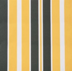 Yellow and grey stripe polyester cover for 3m x 2.5m awning includes Valance
