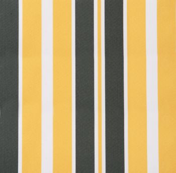 Yellow and grey stripe polyester cover for 2.5m x 2m awning includes valance