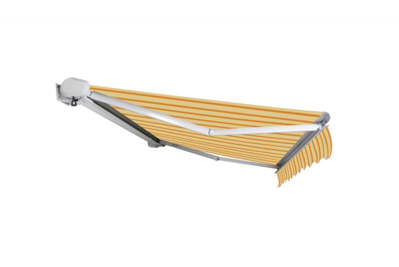 3.5m Full Cassette Electric Awning, Yellow Stripe