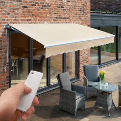 2.5m Budget Wireless Electric Awning, Ivory