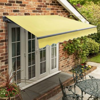 3m Standard Manual Lemon Yellow Awning (Charcoal Cassette)