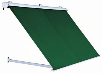 1.0m Half Cassette Drop Arm Awning, Plain Green