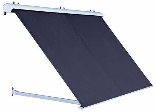 1.0m Half Cassette Drop Arm Awning, Plain Dark Blue