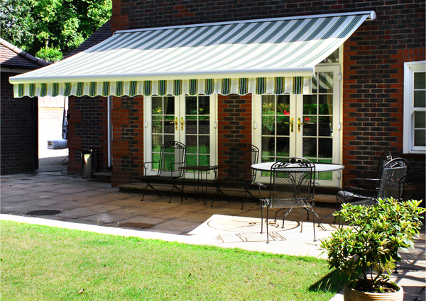 5.0m Full Cassette Electric Awning, Multi Stripe