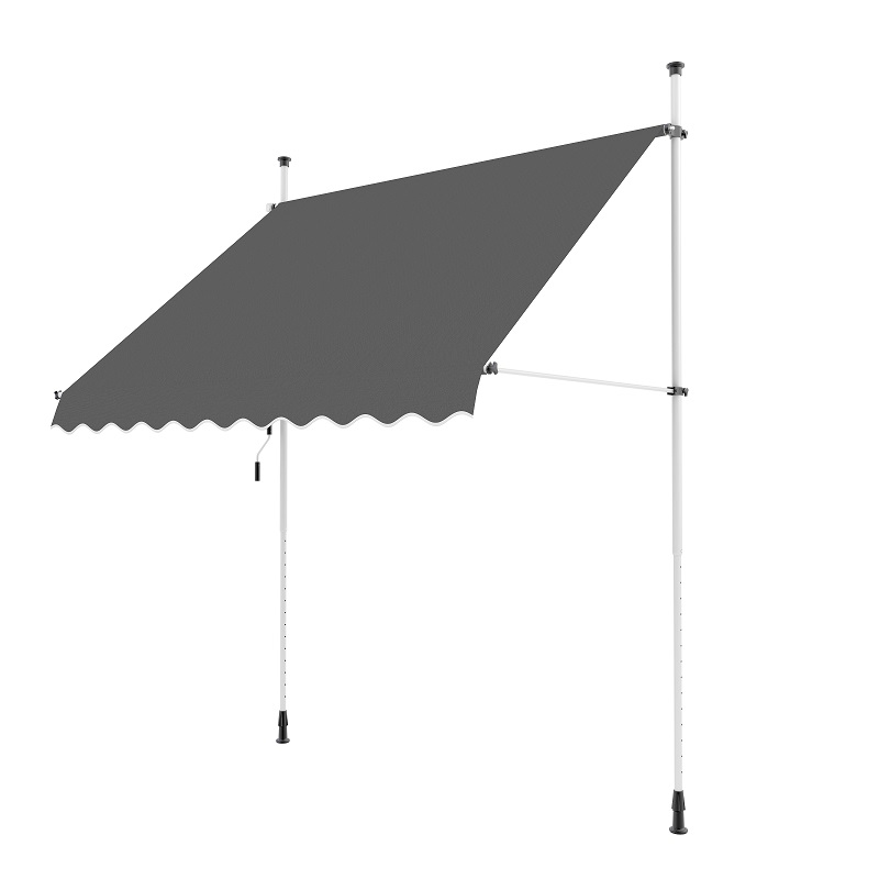 2.0m Balcony Manual Awning, Charcoal
