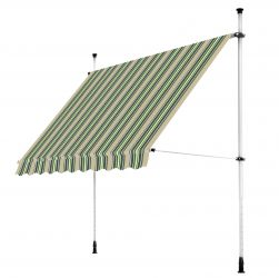 2.0m Balcony Manual Awning, Multistripe