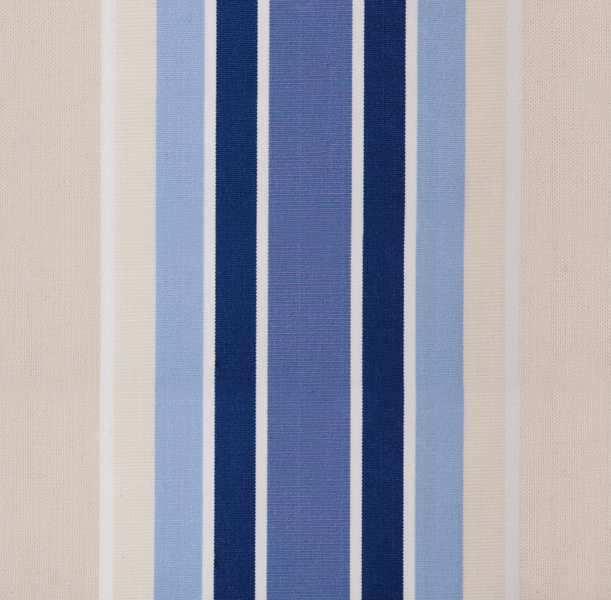 Blue Stripe polyester cover for 1.5m x 1.0m awning includes valance