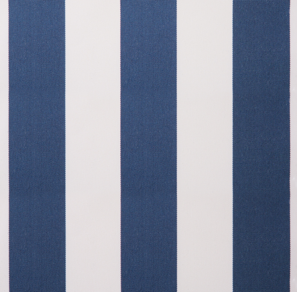 Blue and White polyester cover for 5.0m x 3m awning includes valance