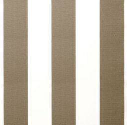 Mocha Brown and White Stripe polyester cover for 2.5m x 2m awning includes valance