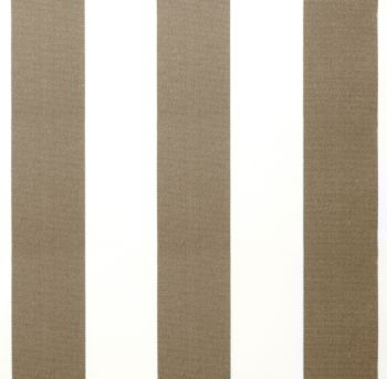 Mocha Brown and White Stripe polyester cover for 3.5m x 2.5m awning includes valance