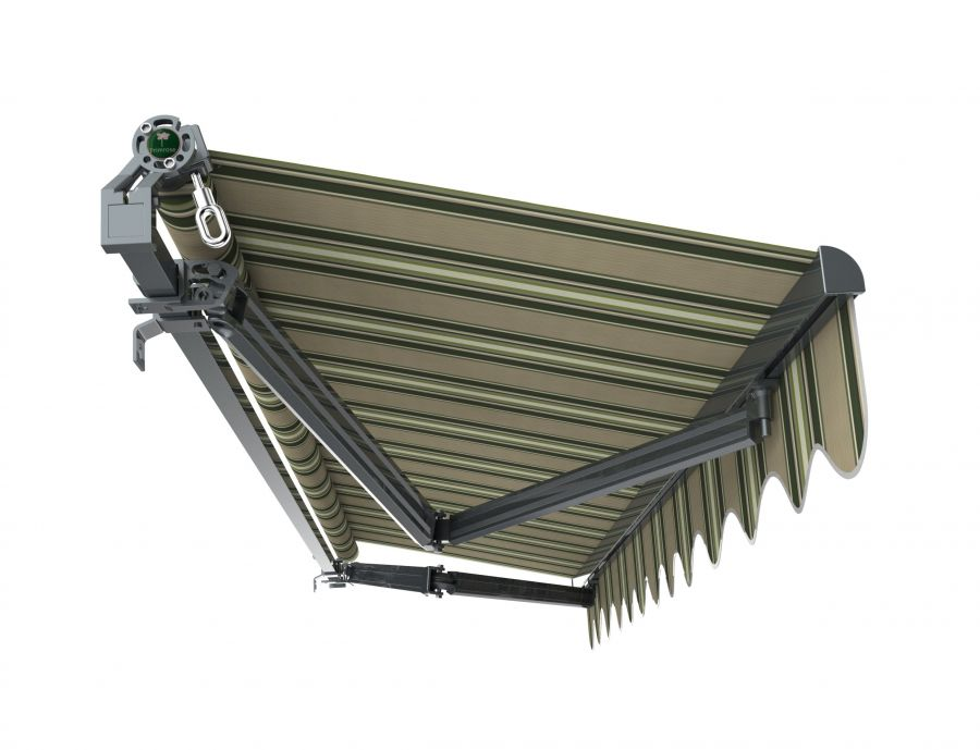 3m Budget Manual Multistripe Awning (Charcoal Cassette)