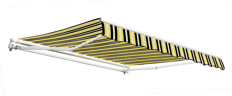 2.5m Budget Manual Awning, Yellow and Grey