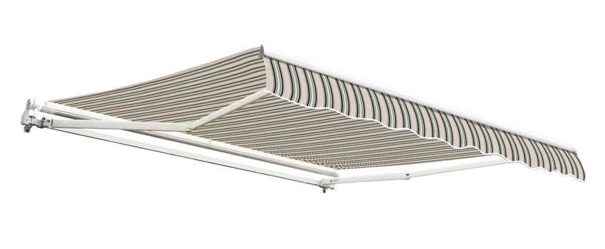 2.5m Budget Manual Awning, Multi Stripe
