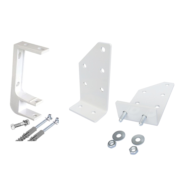 Set of 2 Ceiling Wall and Roof Rafter Brackets for 35mm Torsion Bar - For 1.5m - 3m Budget Manual Awnings
