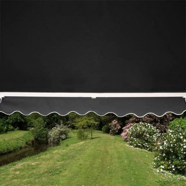 6.0m Half Cassette Electric Awning, Charcoal
