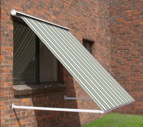 2.5m Half Cassette Drop Arm Awning, Multi Stripe