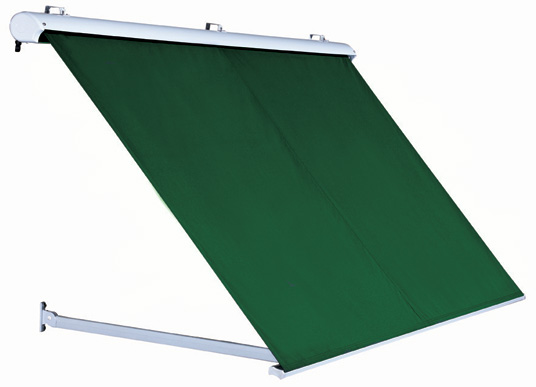 2.5m Half Cassette Drop Arm Awning, Plain Green