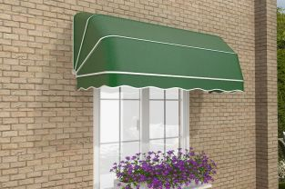 1.5m Dutch Canopy Plain Green Awning
