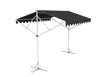 5m Free Standing Charcoal Awning
