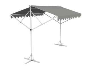 5m Free Standing Silver Awning
