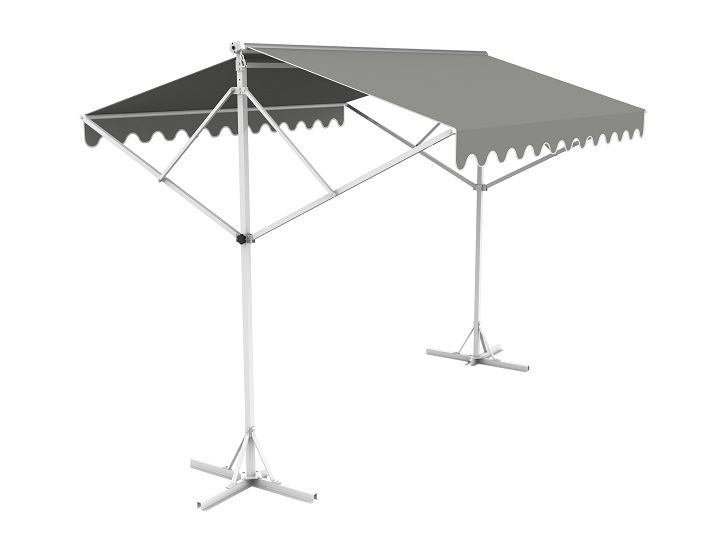 3.5m Free Standing Silver Awning