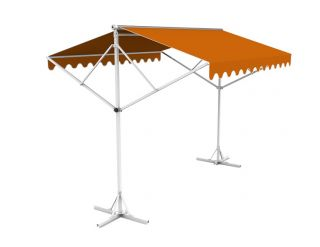 5m Free Standing Terracotta Awning