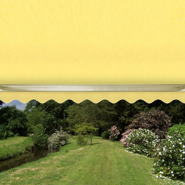 3.5m Full Cassette Manual Awning, Lemon Yellow
