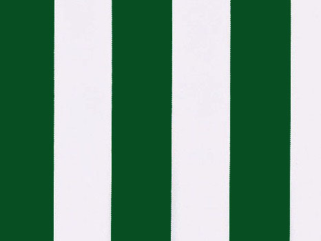 Green and White polyester cover for 6.0m x 3m awning includes valance