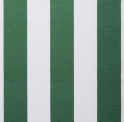 Green and white stripe polyester cover for 2m x 1.5m awning includes valance