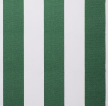 Green and white stripe polyester cover for 4.5m x 3m awning includes valance